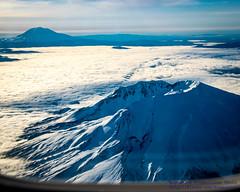 Mt. St. Helens & Mt. Adams (AvgeekJoe) Tags: iflyalaska aerialphotograph alaskaair alaskaairlines d5300 dslr mountadams mountsainthelens mtadams mtsthelens nikon nikond5300 skywestairlines usa washington washingtonstate aerial aerialphoto aerialphotography mountain volcano