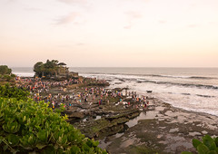 Tourists at the temple Pura Tanah Lot, Bali island, Tabanan, Indonesia (Eric Lafforgue) Tags: ancient asia asian attraction bali bali1714 balinese countryside crowd cultural culture evening highangleview historical history holidays horizontal humans indonesia indonesian landmarks landscape men nature outdoors people religion religious rock scenery sea sightseeing sunset tabanan tanah temples tourism touristic tourists traditional twilight vacation visitors waves women baliisland