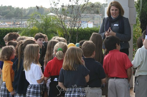 Meteorology Lesson with 1st grade & Upper School