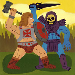 Good Versus Evil 2 (Jack Teagle) Tags: fight good evil battle fantasy epic motu heman skeletor snakemountain castlegrayskull
