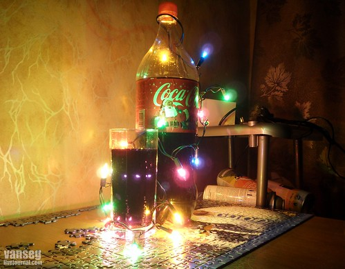 Coca Cola and Christmas lanterns