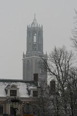 IMG_9995 (Lady_Nieske) Tags: winter white snow cold nature utrecht domtoren pretty dom sneeuw wit