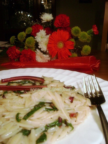 OrzoPasta with Greens