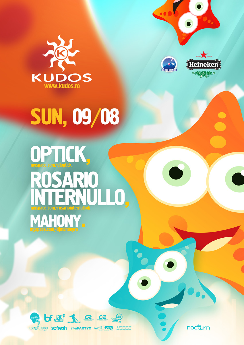 kudos beach poster - optick, internullo