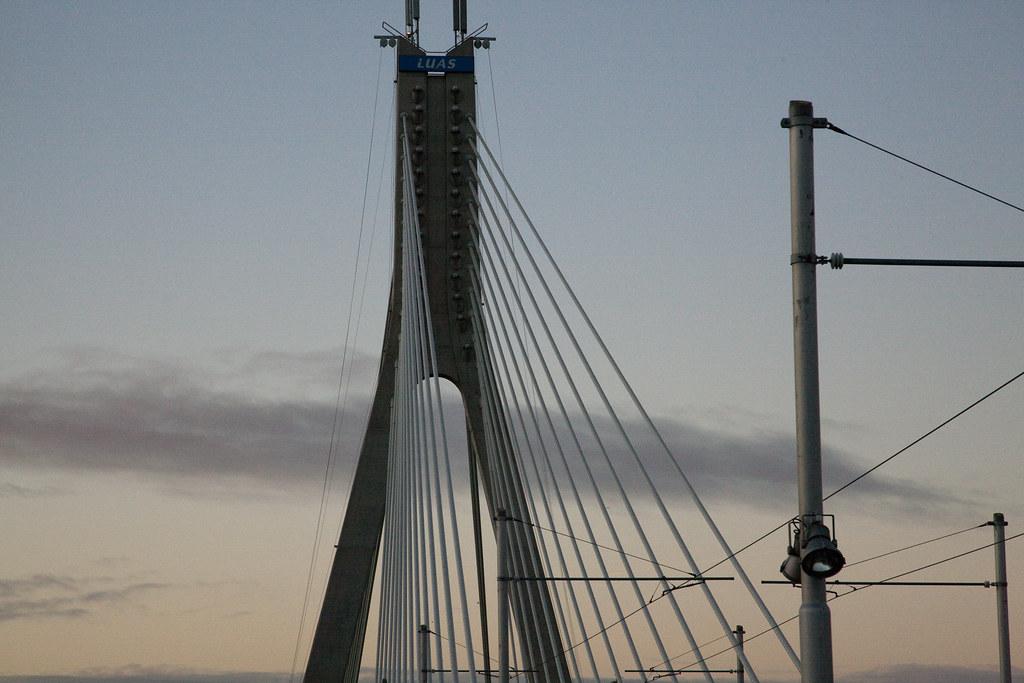 The Luas Bridge In Dundrum