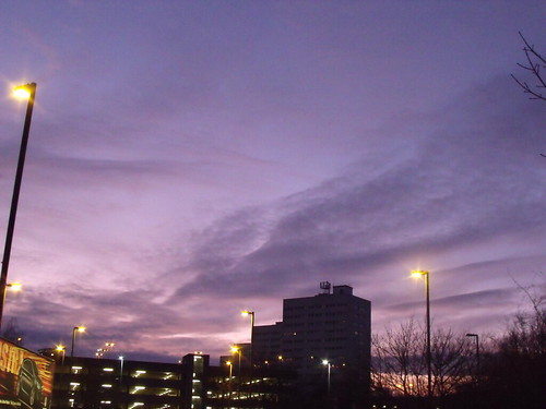 Sunset over Paradise Circus Queensway