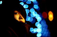 lminous flx (TommyOshima) Tags: winter portrait girl night shinjuku illumination luminous clarice brutaldof