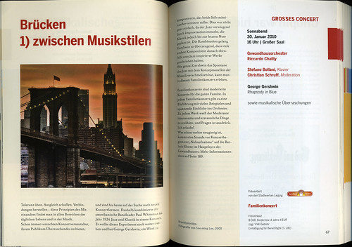 Leipzig Gewandhaus Orchestra: 2009-2010: 229th Season Catalog: pp. 66-67 / 2009-12-22 / SML (by See-ming Lee 李思明 SML)