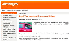 DVLA: but road tax was abolished in 1936