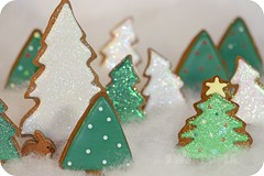 decorated tree cookies (sweetopia*) Tags: bunny christmastree christmascookies winterscene decoratedcookies treecookies discodust decoratedcookietrees