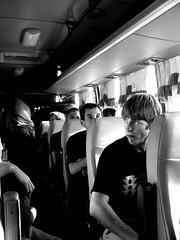 Bus (Moses IV) Tags: people blackandwhite bw bus public monochrome interesting transportation stare greatshot desaturated photographicart bnw missionaries professionalphotography publicphotography mosesiv sonyaplhaa230
