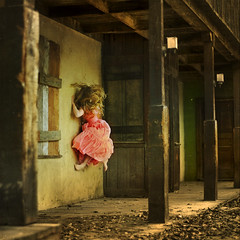 the inconvenience of spirits (brookeshaden) Tags: vintage climb town dress spirit ghost motel western walls deserted struggle manic missaniela brookeshaden allofmyfavoritesgotdeletedonthisphotothatmakesmesad
