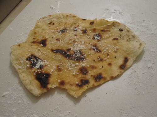 Tortillas with parmesan on top