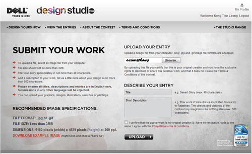 Design and submit your artwork and you are done!