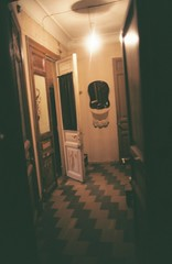 enter the communal living highlife (mariapiessis) Tags: film stpetersburg russia olympus saintpetersburg om2 sanktpeterburg питер россия