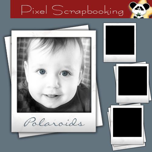 Digital Scrapbooking Freebie Polaroids