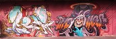 jroo and nychos in munich 2009 (RABBIT EYE MOVEMENT) Tags: vienna wien streetart rabbit eye wall germany mnchen graffiti movement stuttgart stroke 01 jdi bande jroo sketched nychos hccb satone
