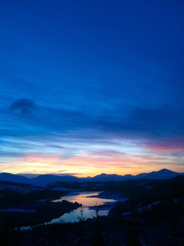 [iPhone] Sunset over Glen Garry, New Year's Day 2010