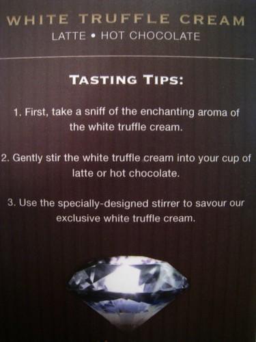 White Truffle Cream Tasting Tips @ Caffe Habitu