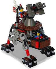 Anti-Aircraft Steam Quad-Walker Mk. XLIII (front) (aillery) Tags: war lego military great steam walker motor machines windup motorized steampunk antiaircraft
