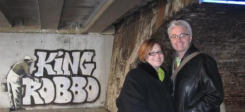 Banksy under Camden Canal