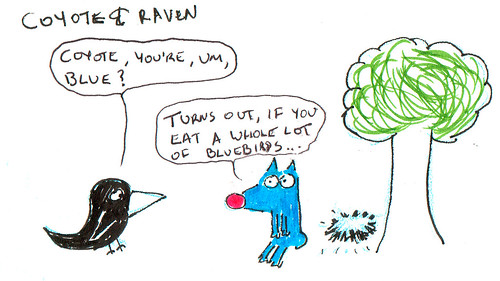 366 Cartoons - 336 - Coyote and Raven