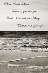 Peace... (Nancy Vanderbilt Photography) Tags: white black beach sepia words lyrics surf peace wave vanilla ripples 2010 perfectlyimperfectphotography kellygriswold