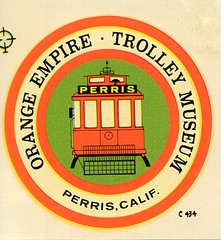 Orange Empire Trolley Museum decal