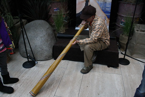 Man Playing the Didjeridoo