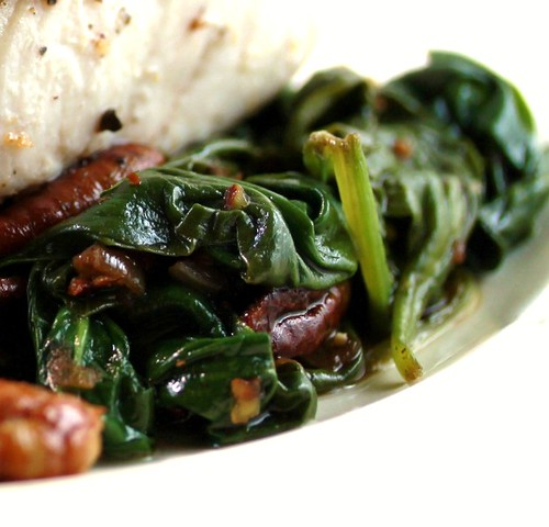 blog wilted spinach balsamic v pecans bacon