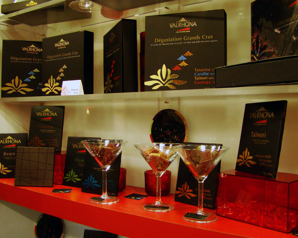 Valhorona chocolate display