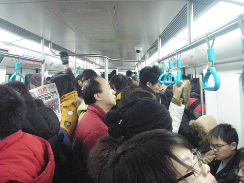 Busy Beijing subway