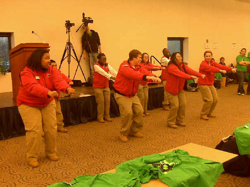 City Year getting the volunteers ready, MI