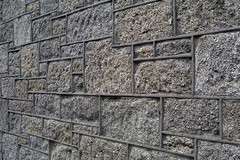 A wall in Hugh Town, Saint Mary's, Isles of Scilly, UK