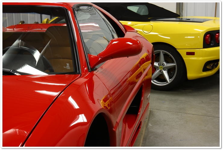 Ferrari 355 GTS gloss and clarity after polishing