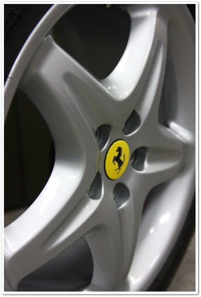 Ferrari 355 GTS wheels after detail