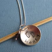 Custom Hand-Stamped Mother's Necklace