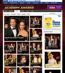 Yahoo Oscars site screenshot