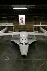 VSS Enterprise mounted in the hangar_Mark Greenberg (Virgin Galactic) Tags: ss2 vssenterprise ricahrdbranson burtrutanspacetravelmojave