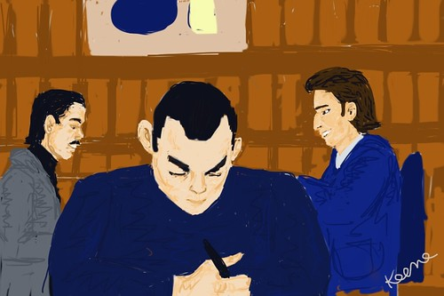 iPhone drawing - at B&N, Union Square