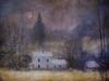 woodsmoke at dawn (BooBooetmoi) Tags: winter moon fairytale farmhouse woodsmoke magicunicornverybest imagofabulae artuniinternational