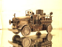 Fire engine metal welding sculpture