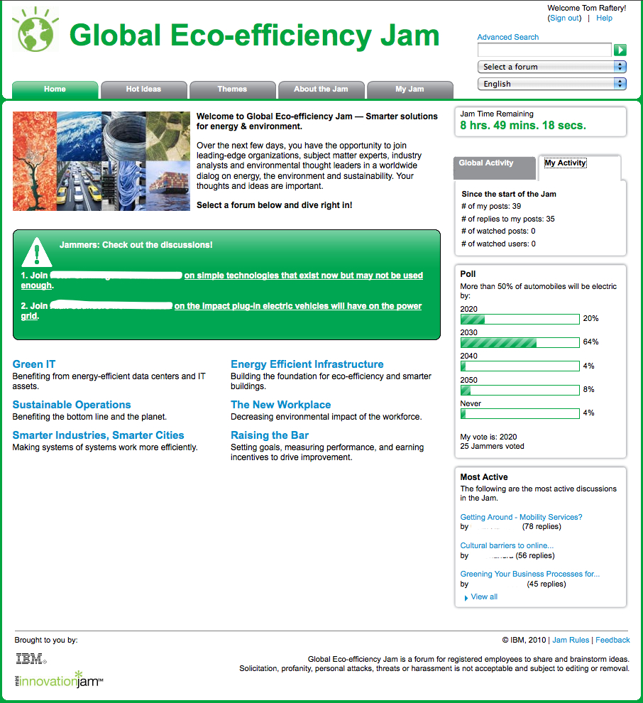 IBM Eco Jam Screenshot