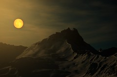 the moon vs the mountains (HjaltiPhotography) Tags: old inspiration canon lights photographer grandfather young hdr