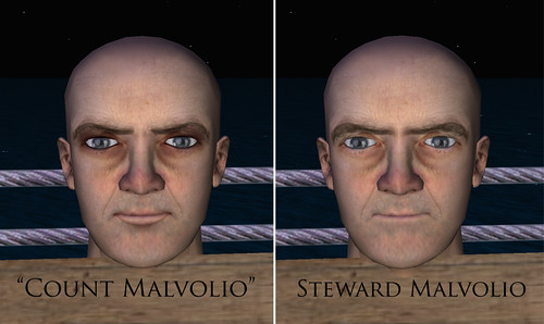count vs steward malvolio