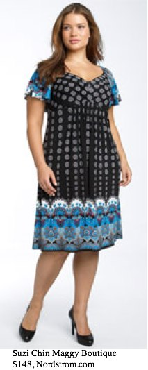 Suzi Chin Maggy Boutique Border Print Dress (Plus) - - Nordstrom