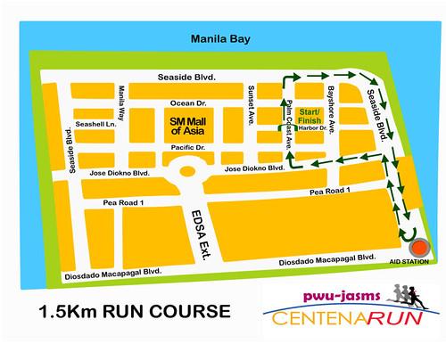 PWU Marathon 1.5k Route Map