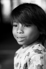 Children of Cambodia - Part II (Angel Private Closet (miss my pro acct)) Tags: blackandwhite girl kids children temple cambodia southeastasia child angkorwat siemreap angkor decisivemoment d90 nikkor50mm lolei