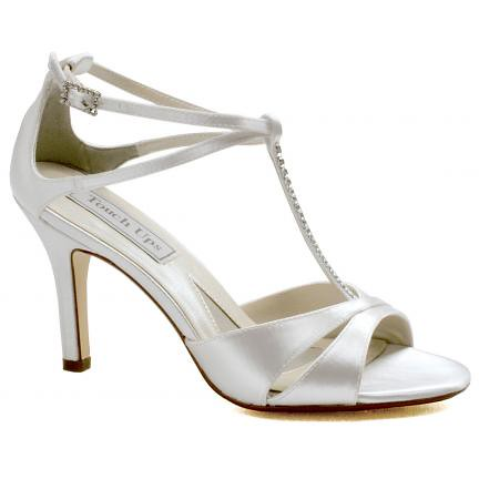 High Heel Wedding Shoes of Satin by Touch-Ups