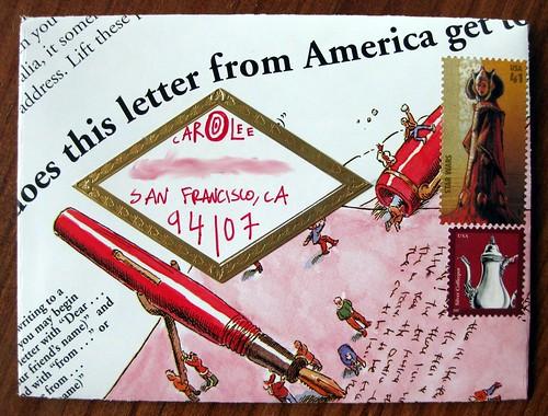 Handmade meta letter envelope